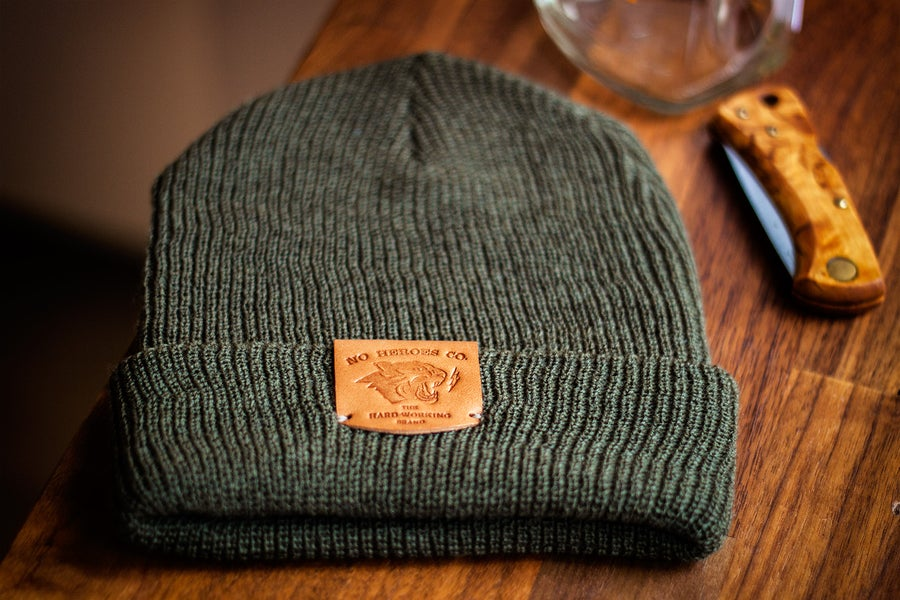 Image of The Wool Wanderer Cap (COMBAT GREEN)