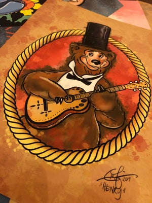 "Image of 8""x10"" - ""Henry the Bear"""