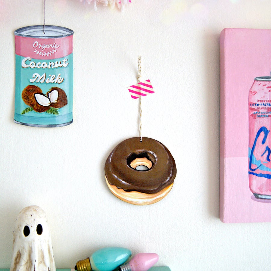 Image of Chocolate glazed donut everyday ornament