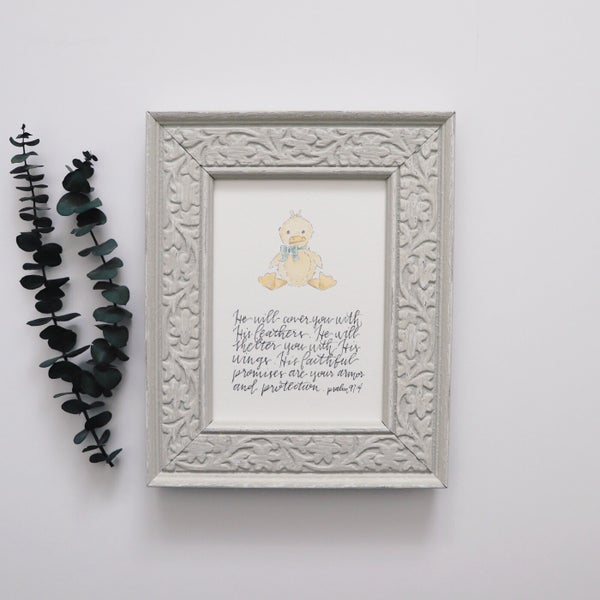 Image of Psalm 91:4 - Print
