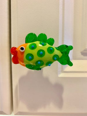 Image of Lime and Orange Fish Drawer Pull