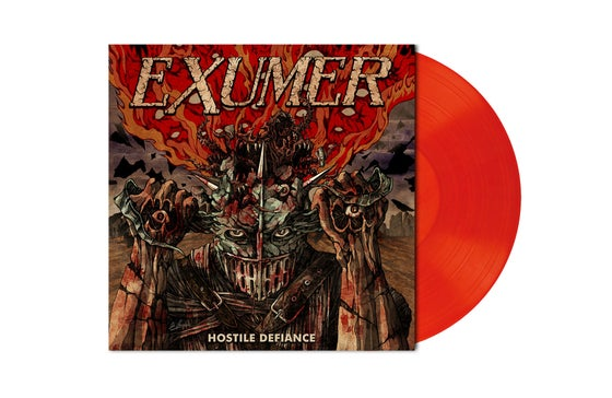 Image of HOSTILE DEFIANCE Orange Red Marbled Vinyl