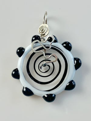 Image of Small Black and White Disc Pendant