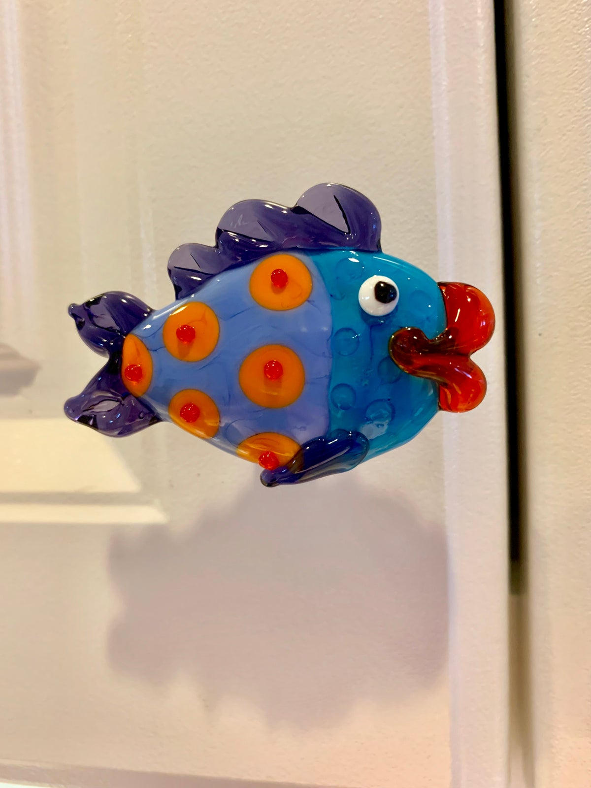 Image of Periwinkle and Turquoise Fish Drawer Pull