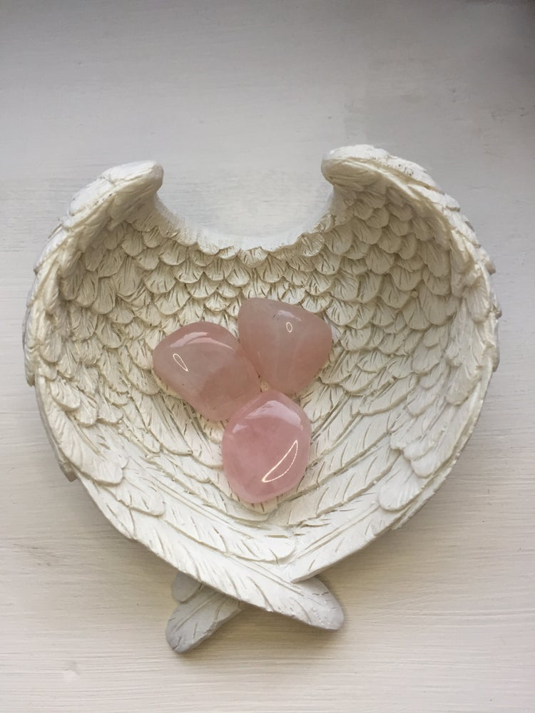 Image of Large Rose Quartz Tumblestone