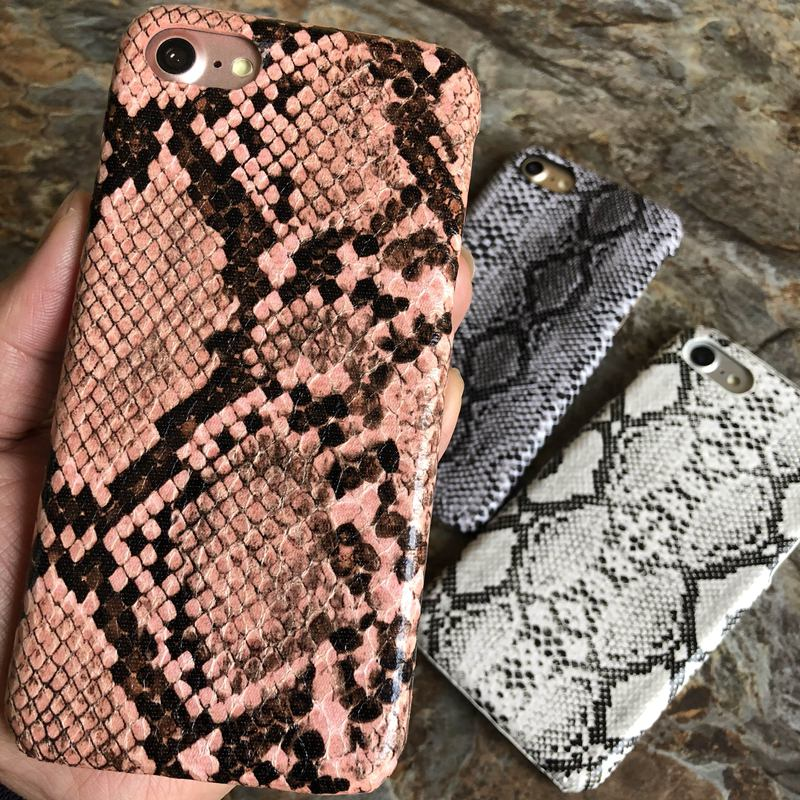 Image of Snakeskin phone case for iPhone X