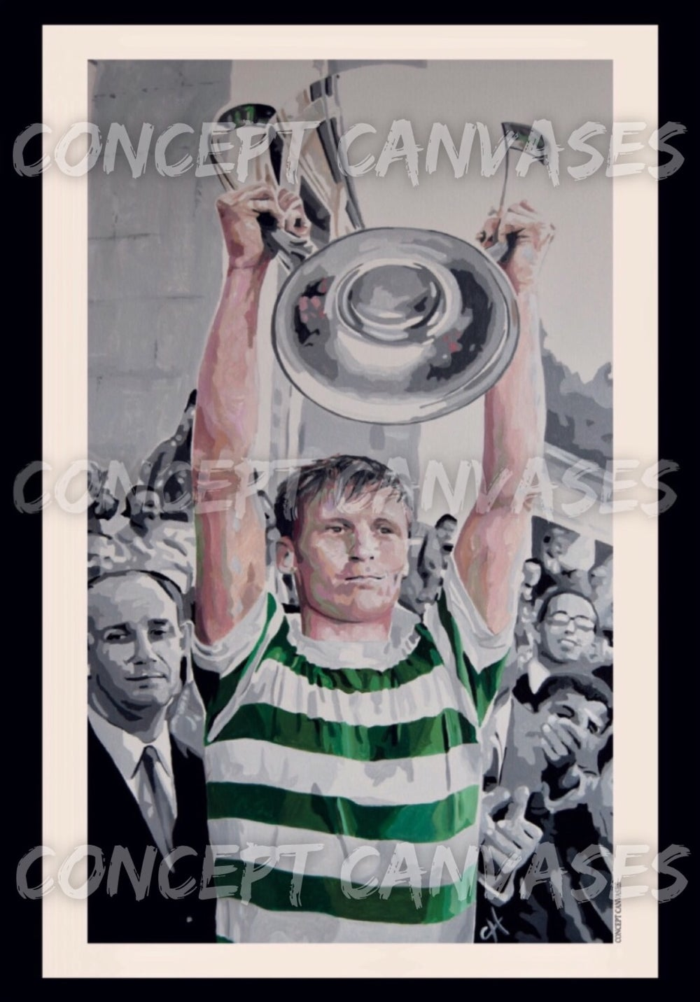 Image of LARGE A1 POSTER. Billy McNeill 'Legends Are Many, Icons Are Few'