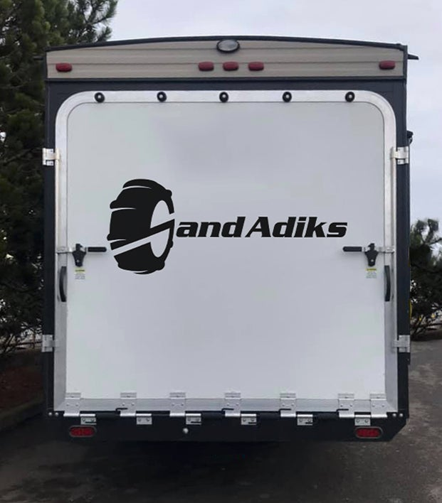 Image of Sand Adiks trailer sticker