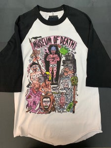 Image of Mike Diana Museum of Death Chaos White/Black Jersey Shirt