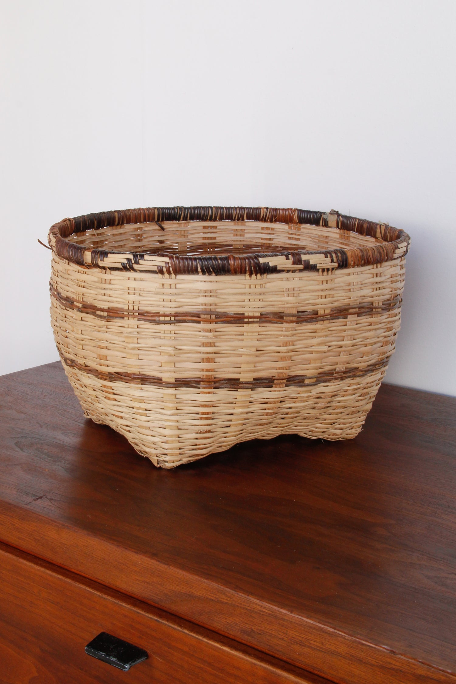 Image of Blonde Basket with Contrasting Trim