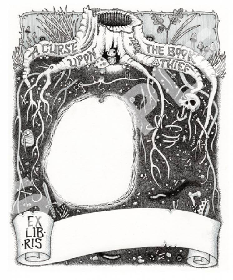 Image of Cursed Roots bookplates