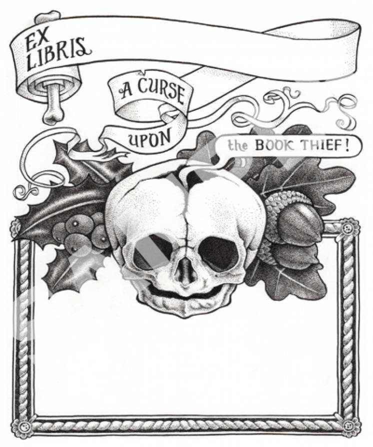 Image of Memento Mori bookplates