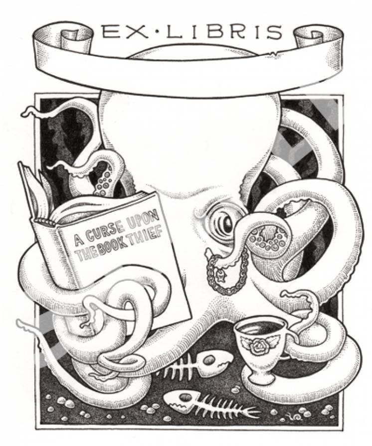 Image of Tentacles & Tea bookplates