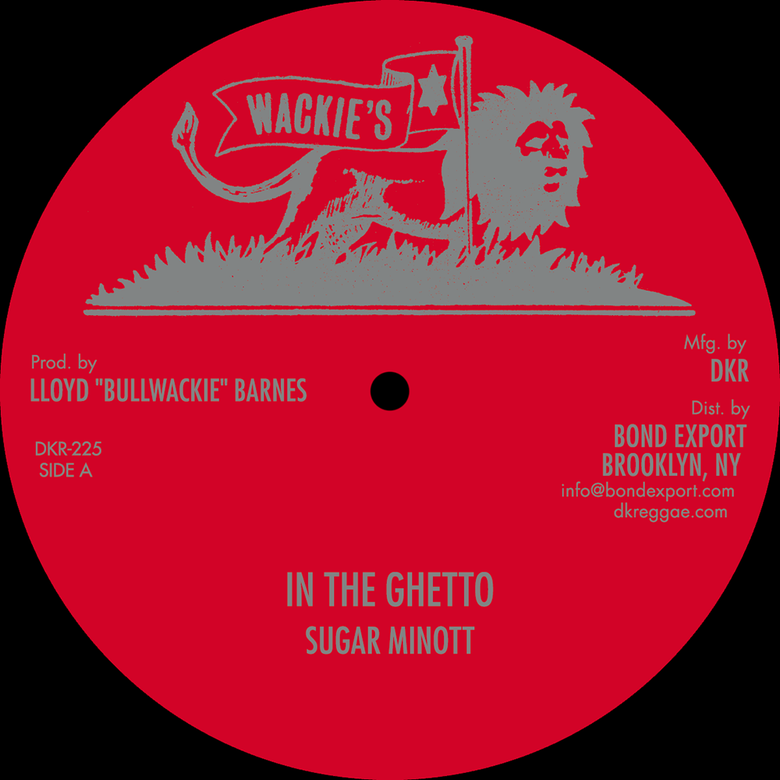 "Image of Sugar Minott / Calabash & 4th Generation Band - In The Ghetto / Zion Land 12"" (Wackie's)"