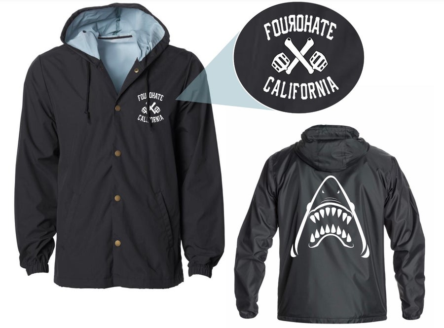 Image of FXC Hooded Windbreaker Jacket (Black)