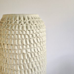 Image of Tall White Frill Vase