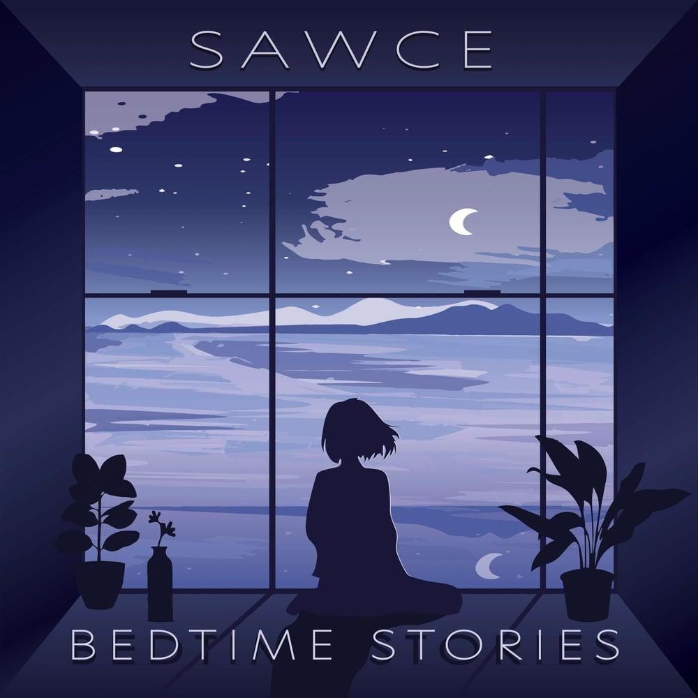 Image of SAWCE - Bedtime Stories LP [Purple & Blue Swirl w/ White Splatter]
