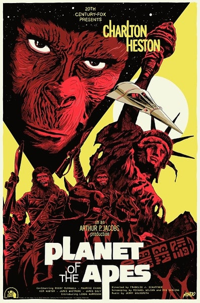Image of Planet of the Apes Screenprinted Poster (Mondo Artist Proof)