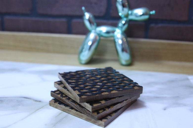 Image of Leopard Coasters (set of 4)