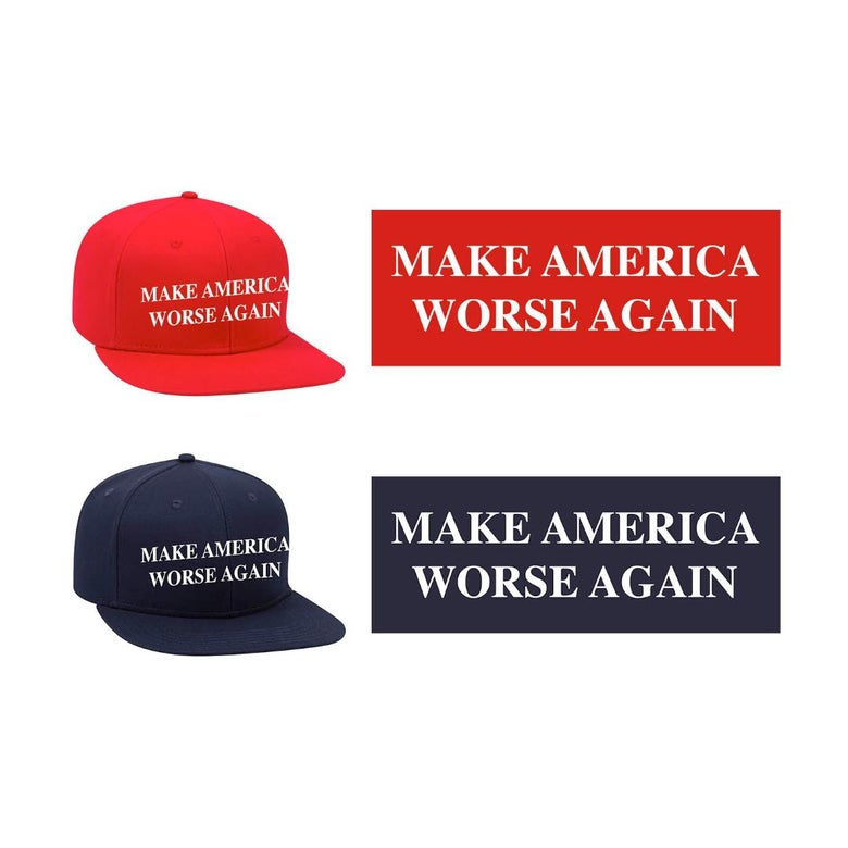 Image of MAKE AMERICA WORSE AGAIN SNAPBACK HAT (IN STOCK)