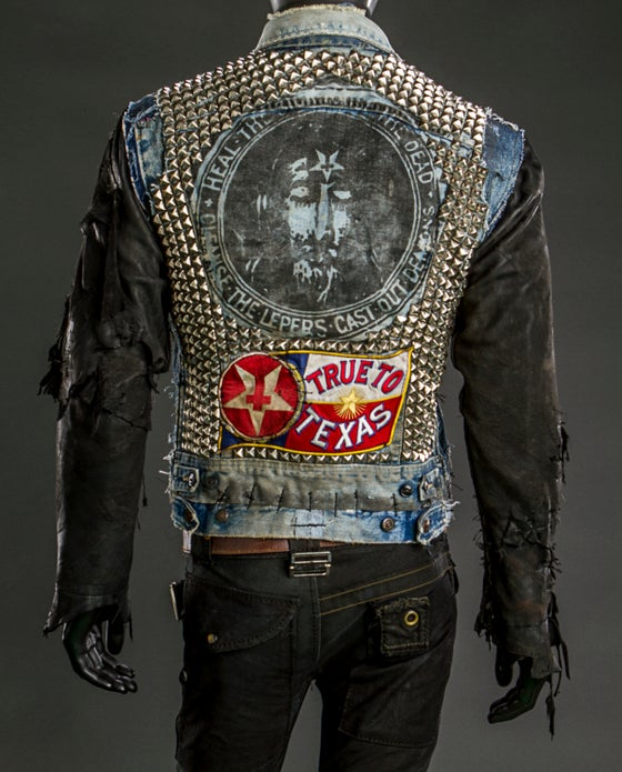 Image of Texas Hell Upcycled Denim Jacket