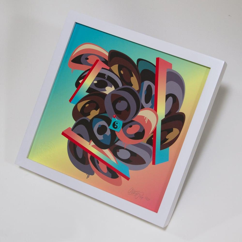 Image of 'The Balance' (color way 2) - Print (framed)