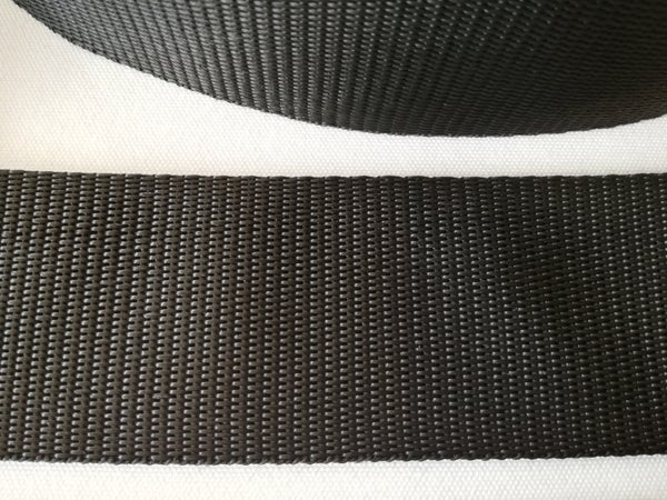 Image of 50 metre roll of 38mm Webbing, Colour Black