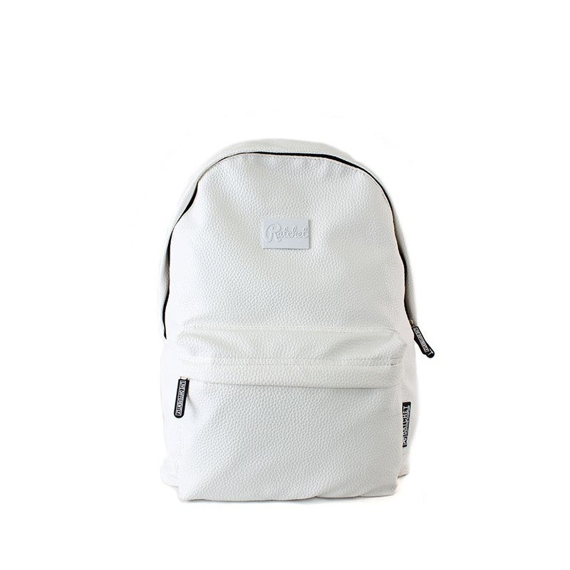 Image of White Leather Bag