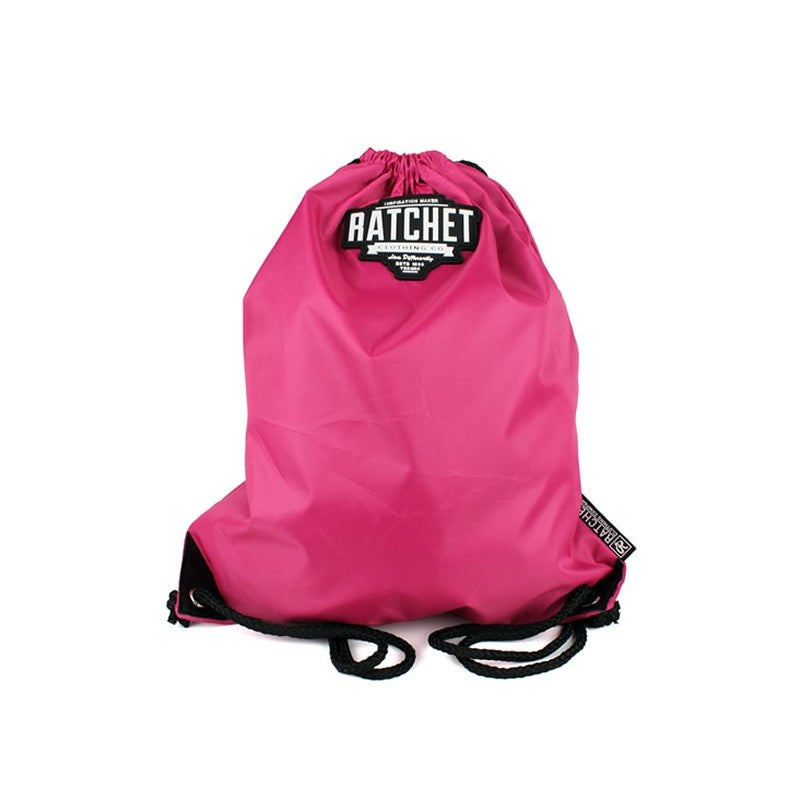 Image of Pink Drawstring Bag