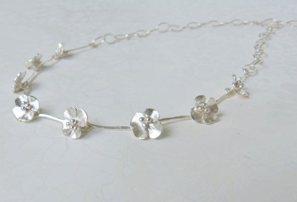 Image of Buttercup necklace with 8 flowers