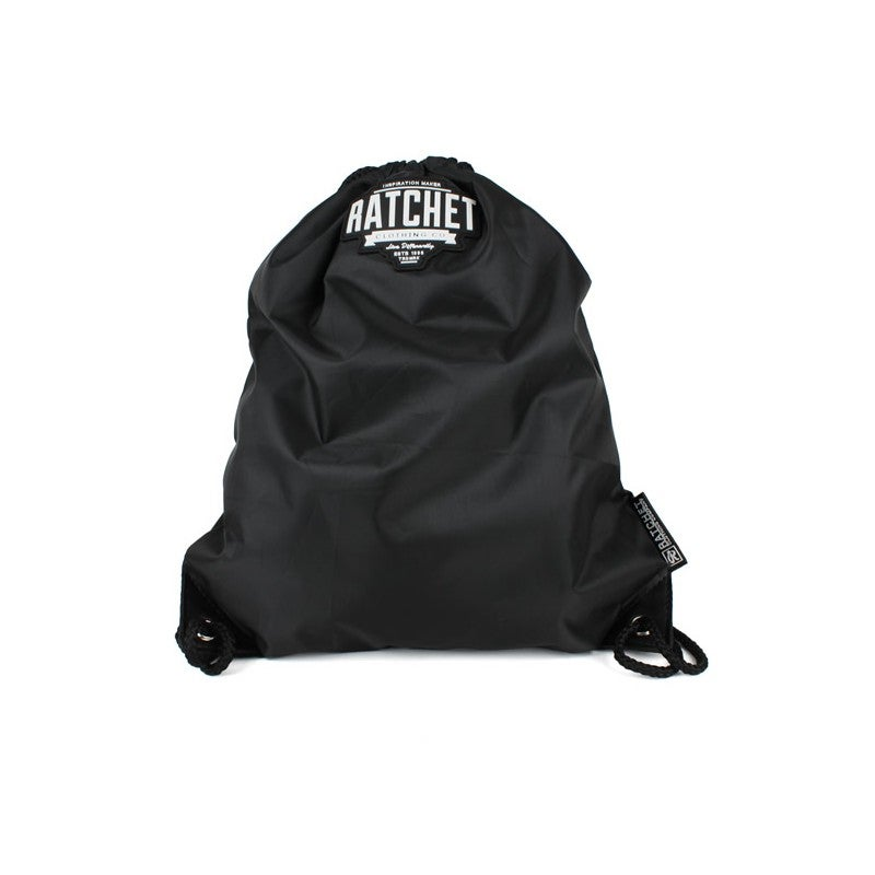 Image of Black Drawstring Bag