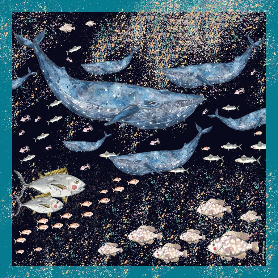 Image of Pañuelo CALMABRAVA bajo el mar