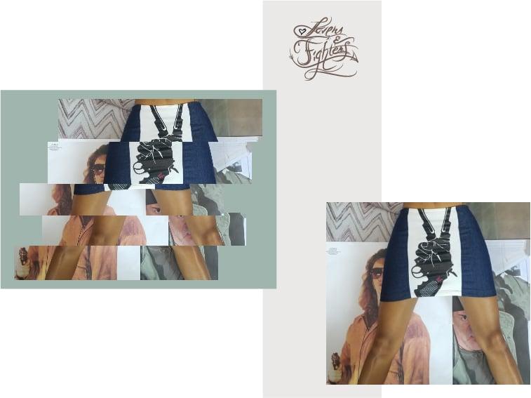 Image of Peaceful gun T-shirt skirt ( Greene Apparel x L&F )