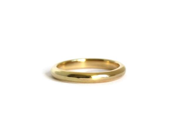 Image of 18ct Gold Narrow Wedding Ring