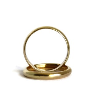 Image of 18ct Wide Gold Wedding Ring