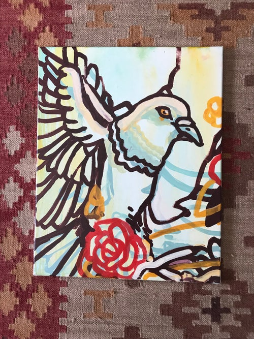 """Image of """"Two piece to Peace"""" Original Painting"""