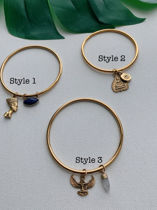 Image of ESSENTIALS • Gold Charm Bangles