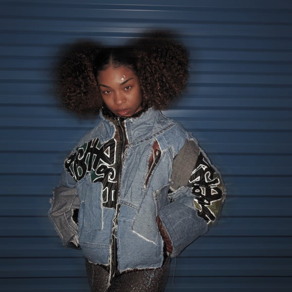 Image of Graffiti Denim Puffer | Unisex