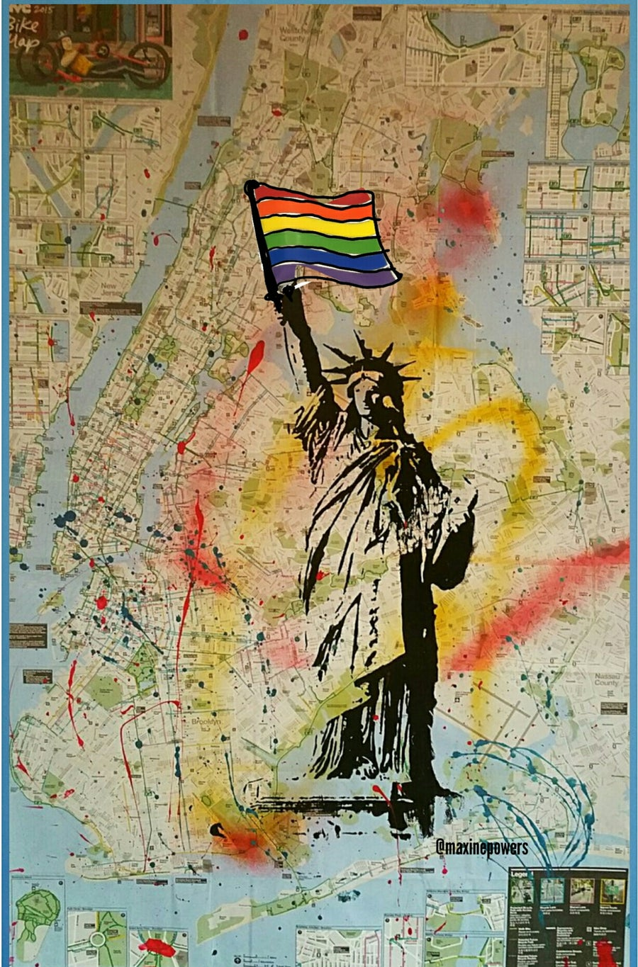 "Image of ""Freedom!/Statue Of Liberty.""  on NYC Bike Map."