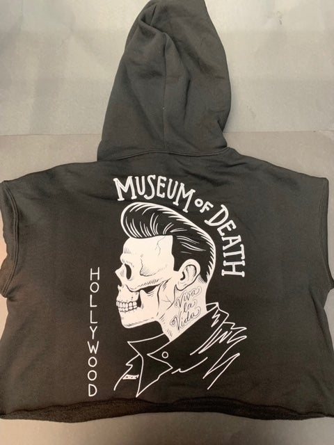 Image of M.O.D. Pomp Rocker Crop Top Hoodie