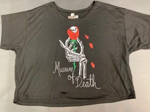 Image of M.O.D. Skull Rose Crop Top Tee Shirt