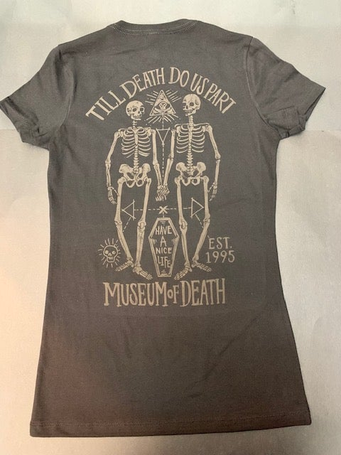 Image of M.O.D. Till Death Ghost Print Women's Fitted Tee Shirt