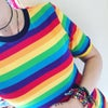 Rainbow Stripe Short Sleeve T-shirt