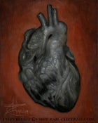 "Image of ""Black Heart"" 8x10"" Oil Painting"