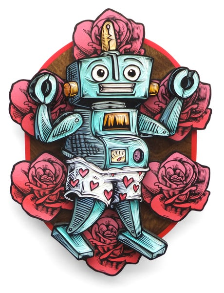Image of Love Machine: The awkward dancing robot **FREE SHIPPING**