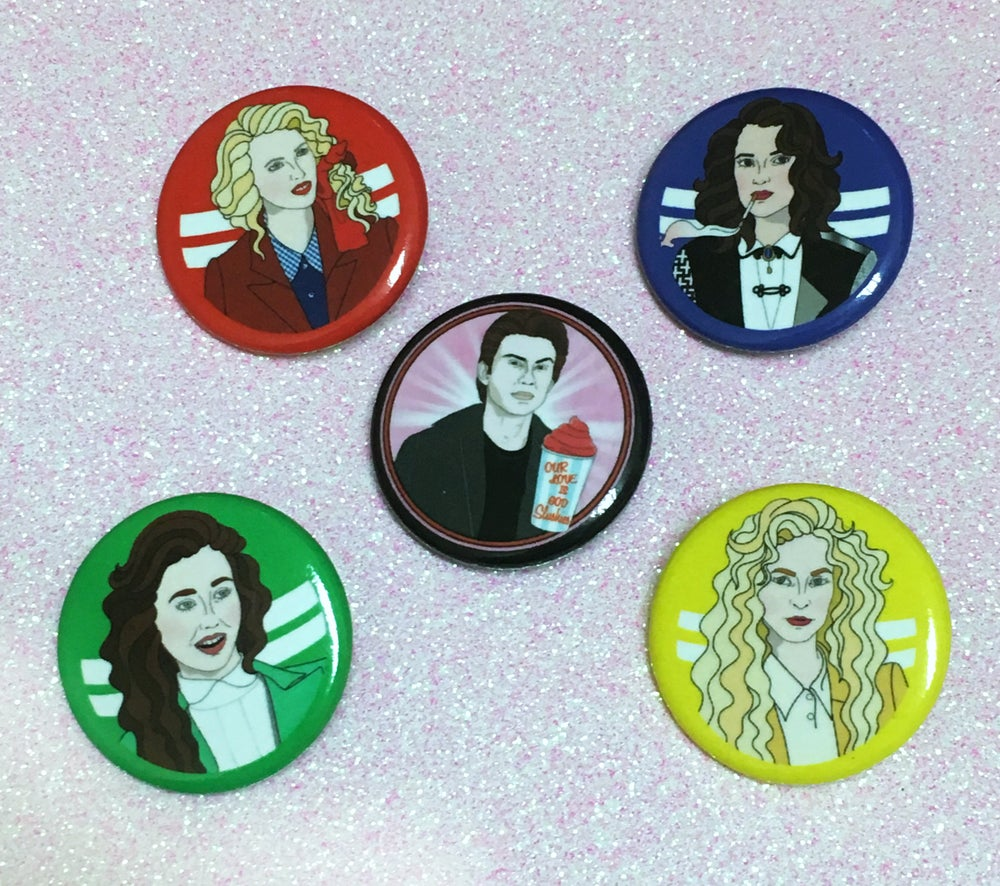 Image of Summon A Heather Button Set
