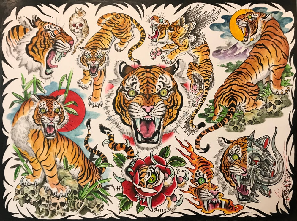 "Image of Tim Lehi ""Color Tiger Flash"" Poster"