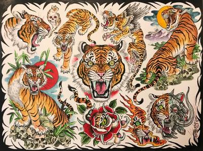 """Image of Tim Lehi """"Color Tiger Flash"""" Poster"""