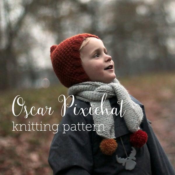 Image of Knitting Pattern Oscar Pixiehat English