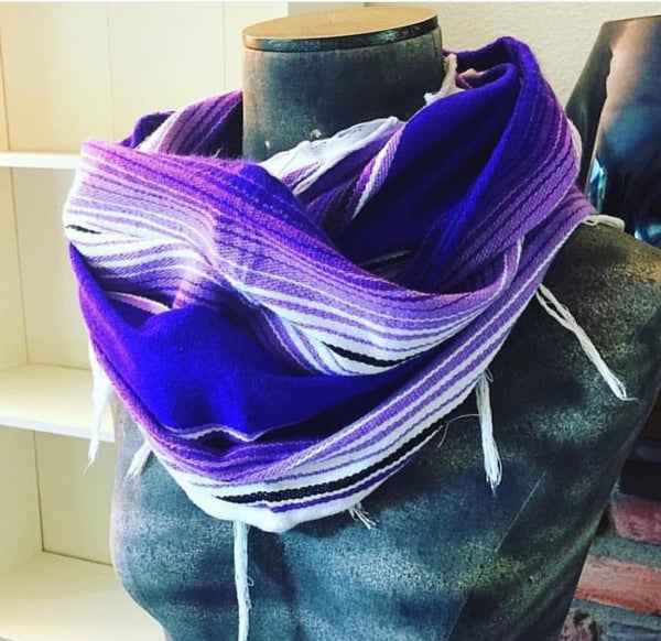 Image of Purple Sarape circle scarf